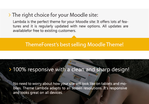Theme Lambda for Moodle - clean and sharp design
