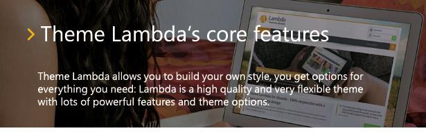 Theme Lambda for Moodle - core features