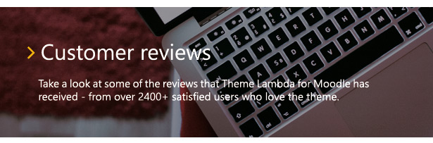 Theme Lambda for Moodle - customer reviews